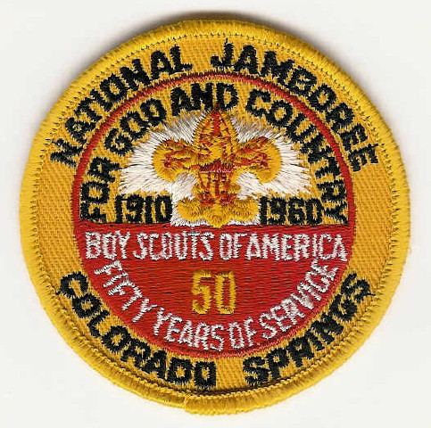 1960 NATIONAL JAMBOREE - Colorado Springs - For God and Country - 50 Years of Service