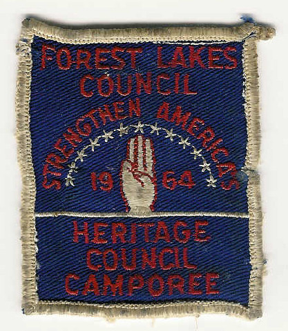 1964 FOREST LAKES COUNCIL - Heritage Council Camporee - Strengthen America's