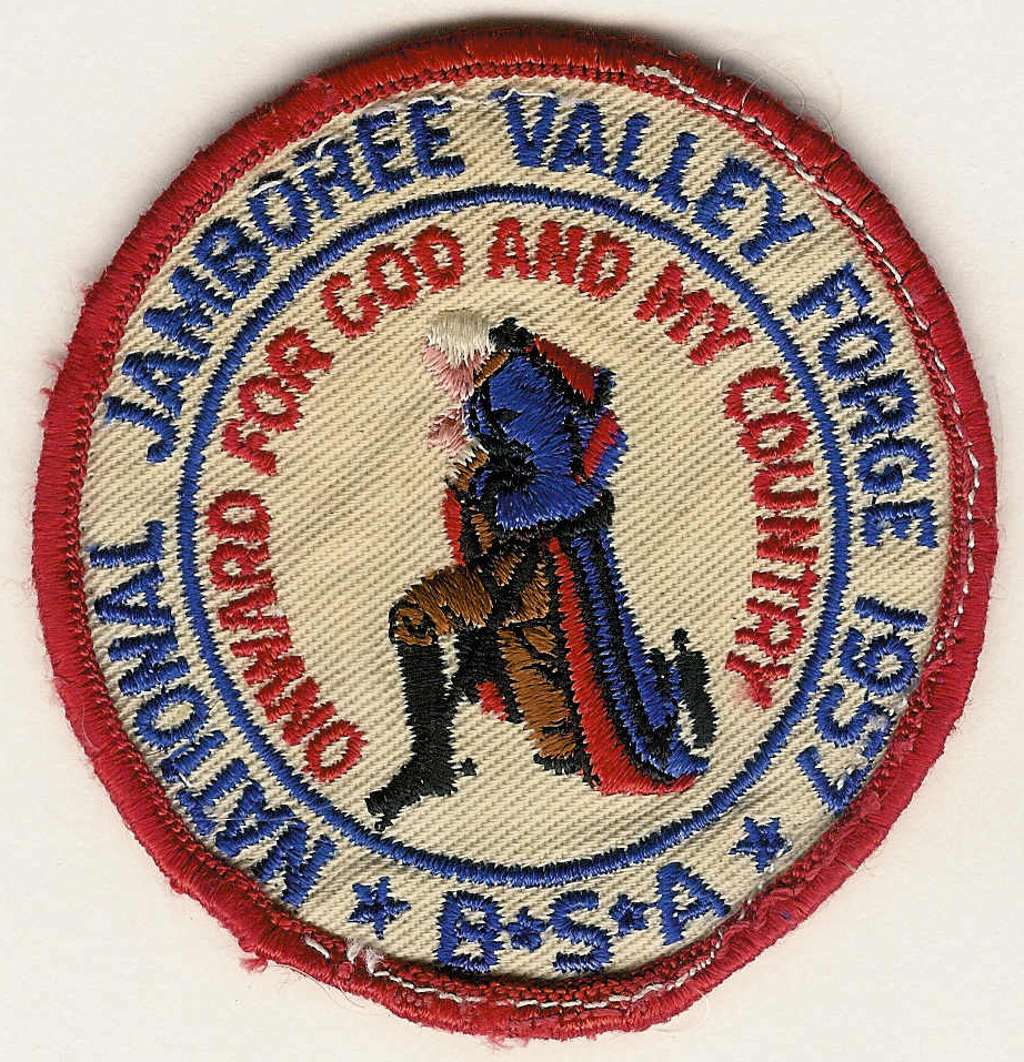 1957 NATIONAL JAMBOREE VALLEY FORGE - B.S.A. - Onward for God and My Country