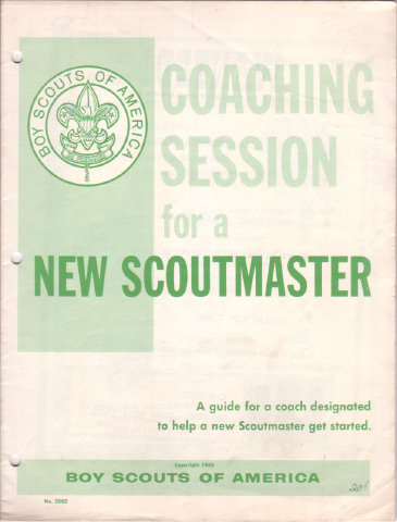 COACHING SESSION FOR A NEW SCOUTMASTER