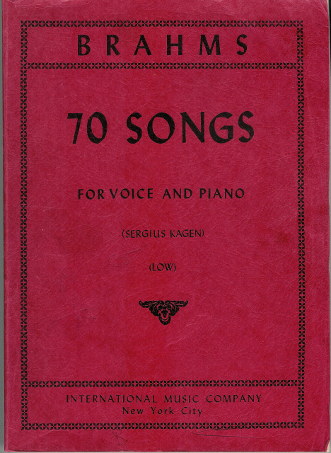 Brahms, Johannes - 70 Songs for Voice and Piano - Sergius Kagen - LOW - German