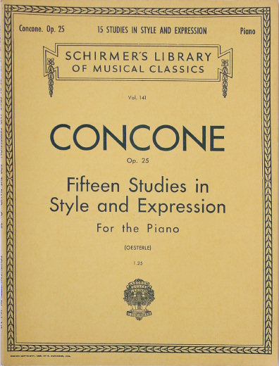 Concone, Giuseppe Op 25 - Fifteen Studies in Style & Expression - Louis Oesterle