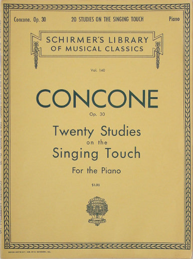 Concone, Giuseppe Op 30 - Twenty Studies on the Singing Touch - Louis Oesterle