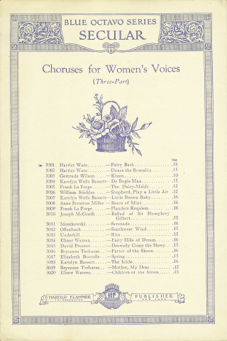 Fairy Bark - Harriet Ware, Thomas Moore - 3-Part Chorus for Women's Voices