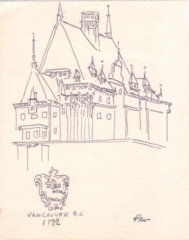 Helen Wood - Empress Hotel, Vancouver - Ink and Pen Drawing