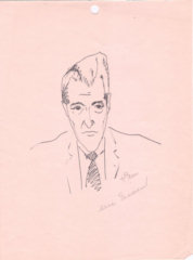 Helen Wood - Eric Sevareid - Pen and Ink Drawing