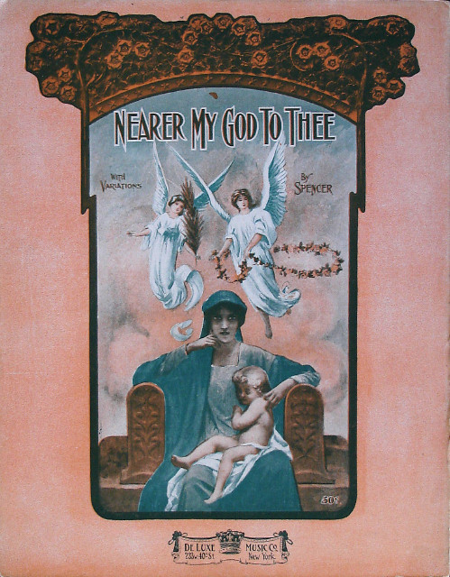 Nearer My God to Thee - Alfred Adam Spencer - Theme with Variations - Piano Solo - Large Format