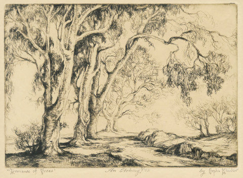 Orpha Klinker - Romance of Trees - Etching