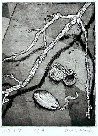 Travis Flack - Still Life - Etching
