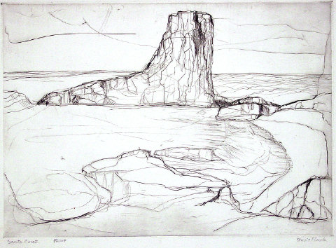 Travis Flack - Santa Cruz - Etching - Proof